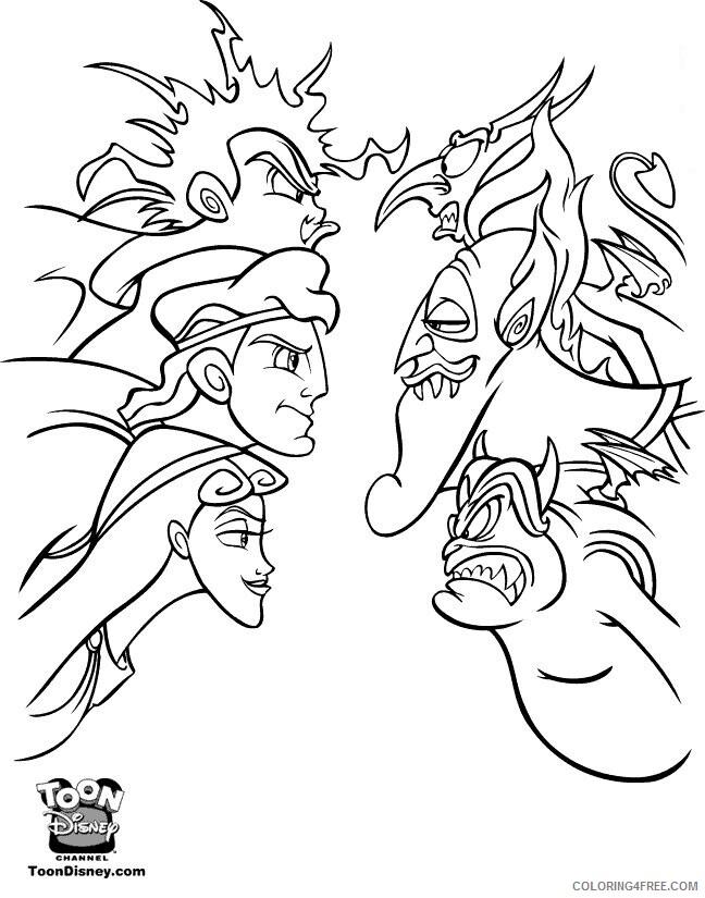Az Coloring Pages of Hercules Printable Sheets caras enfrentadas hercules 2021 a 4483 Coloring4free