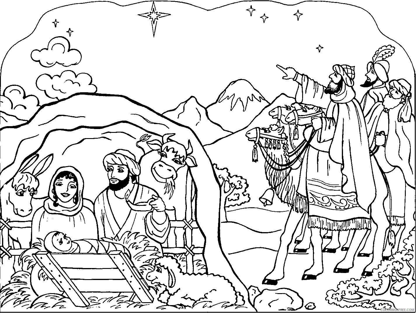 Az Colouring Christmas Coloring Pages Printable Sheets Baby Jesus For Kids 2021 a 4498 Coloring4free