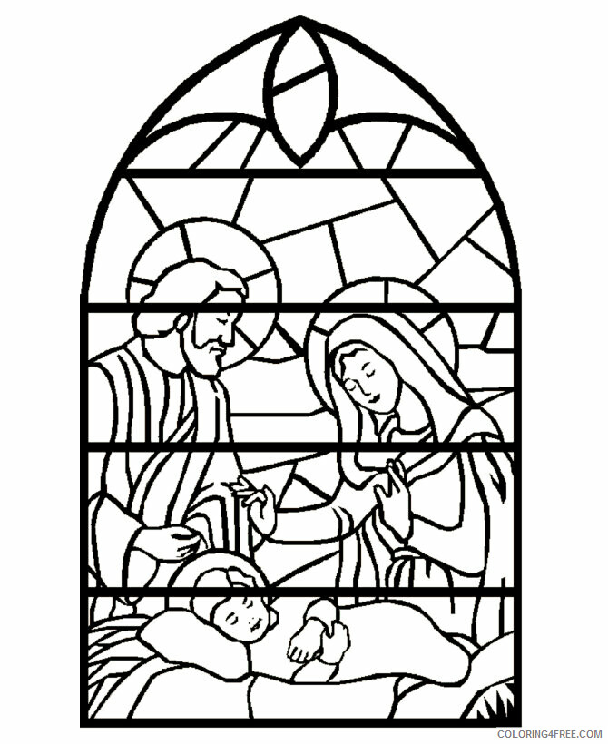 Az Colouring Christmas Coloring Pages Printable Sheets Christmas Stained Gl Window 2021 a Coloring4free