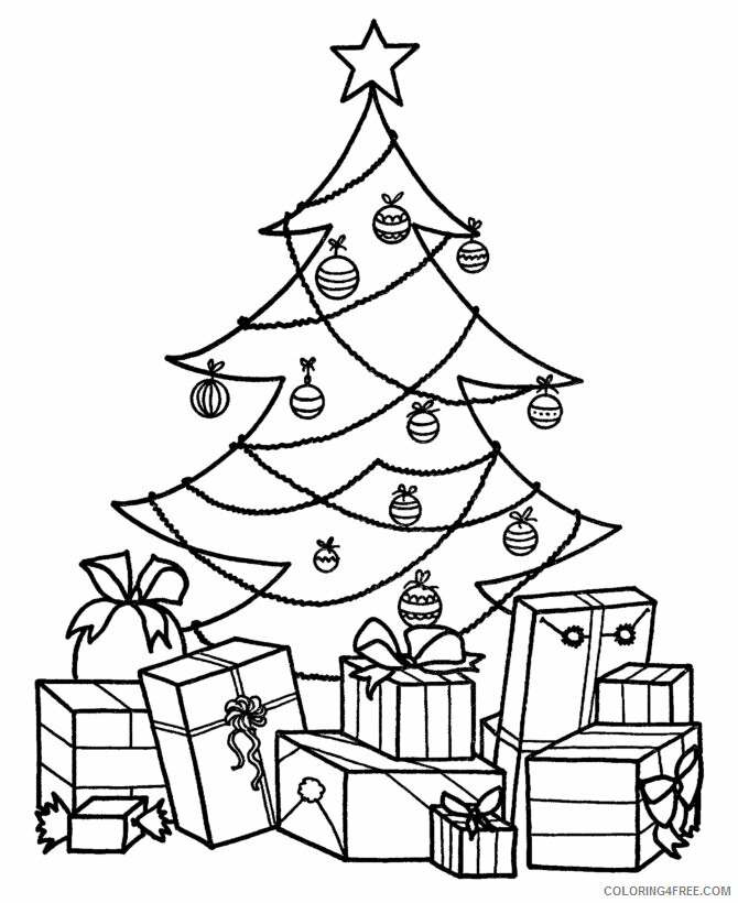 Az Colouring Christmas Coloring Pages Printable Sheets Christmas Tree With Presents 2021 a Coloring4free