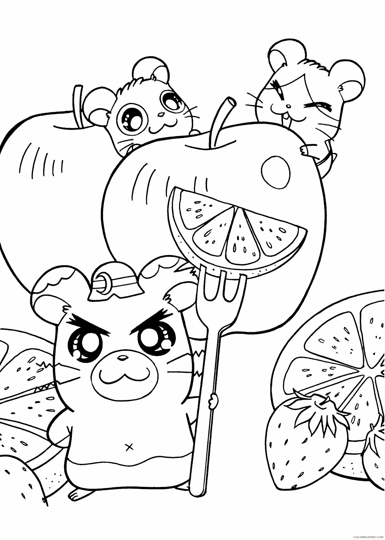 Az Hamtaro Coloring Pages Printable Sheets Anime Special A Pages 2021 a 4524 Coloring4free