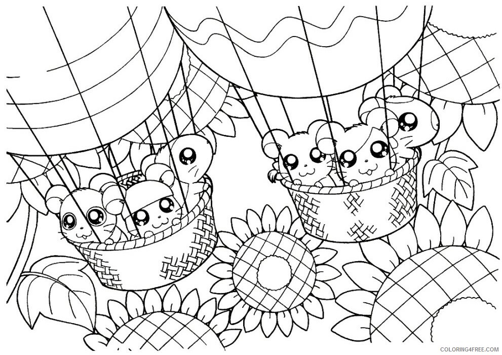 Az Hamtaro Coloring Pages Printable Sheets Cappy Hamtaro Page Cartoon 2021 a 4526 Coloring4free