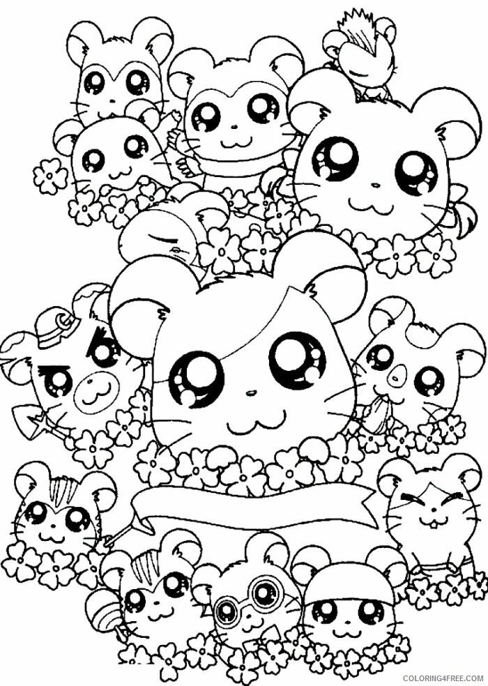Az Hamtaro Coloring Pages Printable Sheets Cartoon Hamtaro Coloring 2021 a 4527 Coloring4free