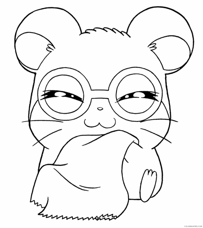 Az Hamtaro Coloring Pages Printable Sheets Cartoon Hamtaro Coloring 2021 a 4528 Coloring4free