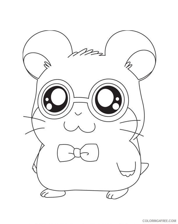 Az Hamtaro Coloring Pages Printable Sheets Cute Animal Hd 2021 a 4530 Coloring4free