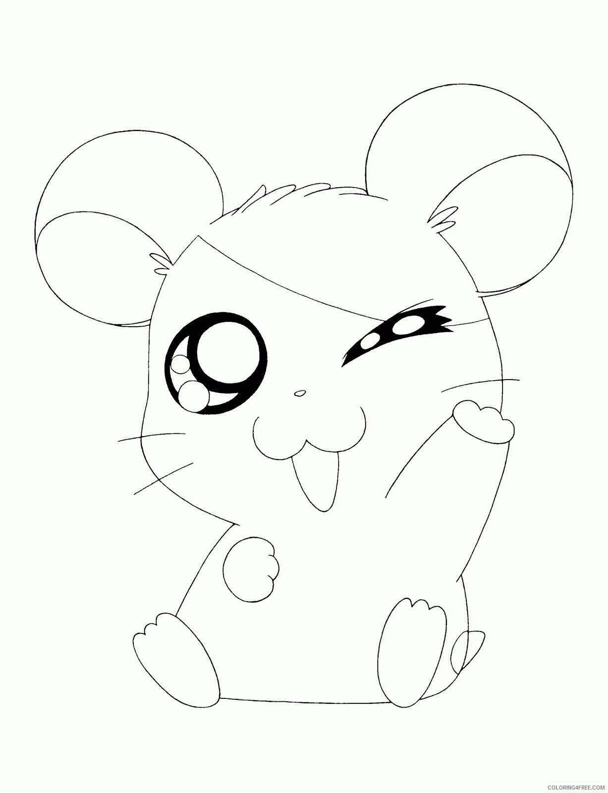 Az Hamtaro Coloring Pages Printable Sheets Cute For Girls 2021 a 4532 Coloring4free