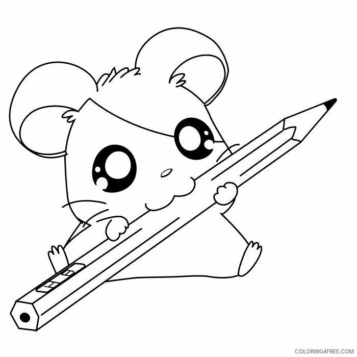 Az Hamtaro Coloring Pages Printable Sheets Cute Hamsters Sleeping Hamtaro Coloring 2021 a Coloring4free