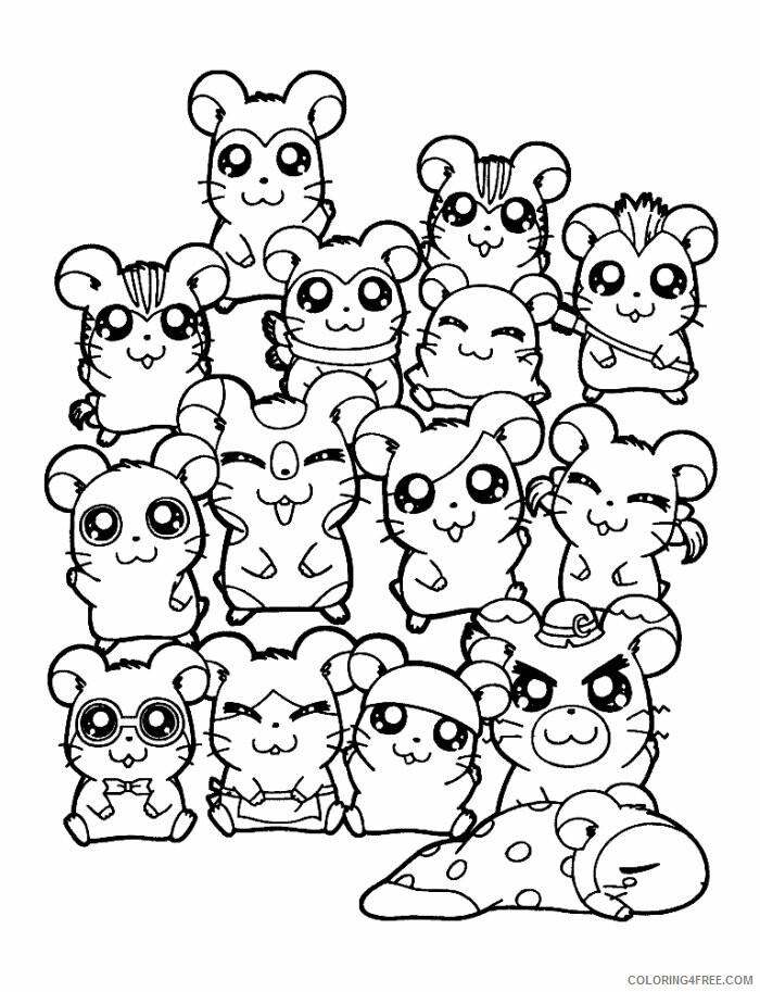 Az Hamtaro Coloring Pages Printable Sheets Hamtaro Characters Page Cartoon 2021 a 4541 Coloring4free