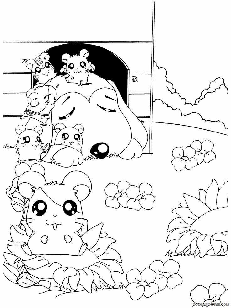 Az Hamtaro Coloring Pages Printable Sheets Hamtaro Hamtaro Coloring 2021 a 4544 Coloring4free