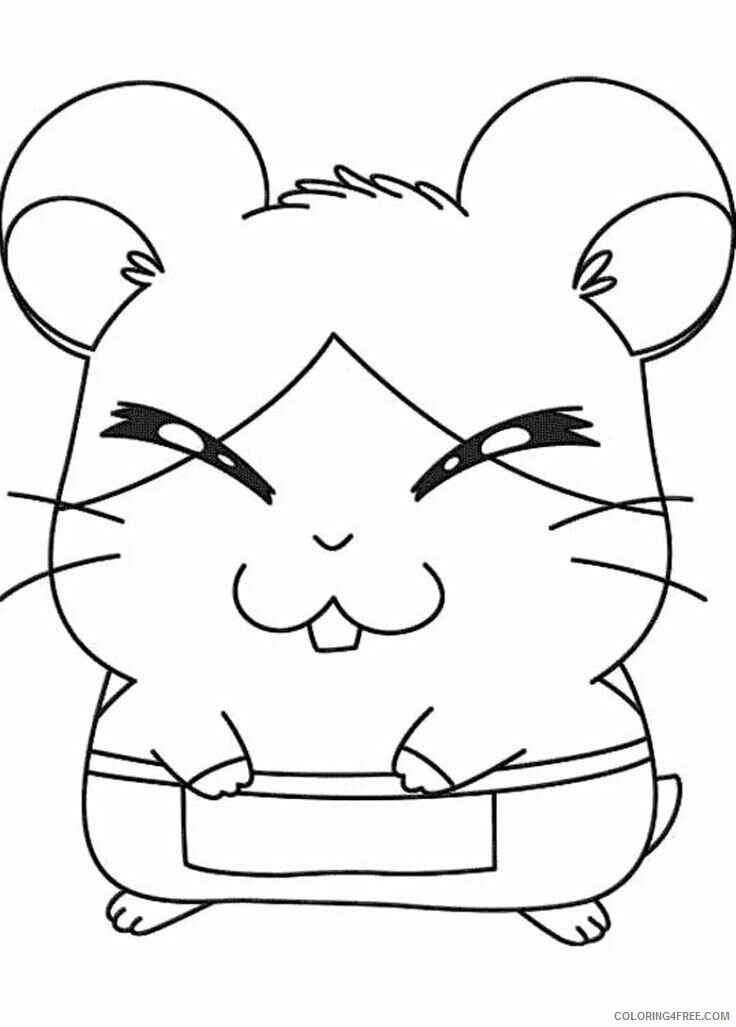 Az Hamtaro Coloring Pages Printable Sheets Hamtaro Howdy Smiled Shyly 2021 a 4550 Coloring4free