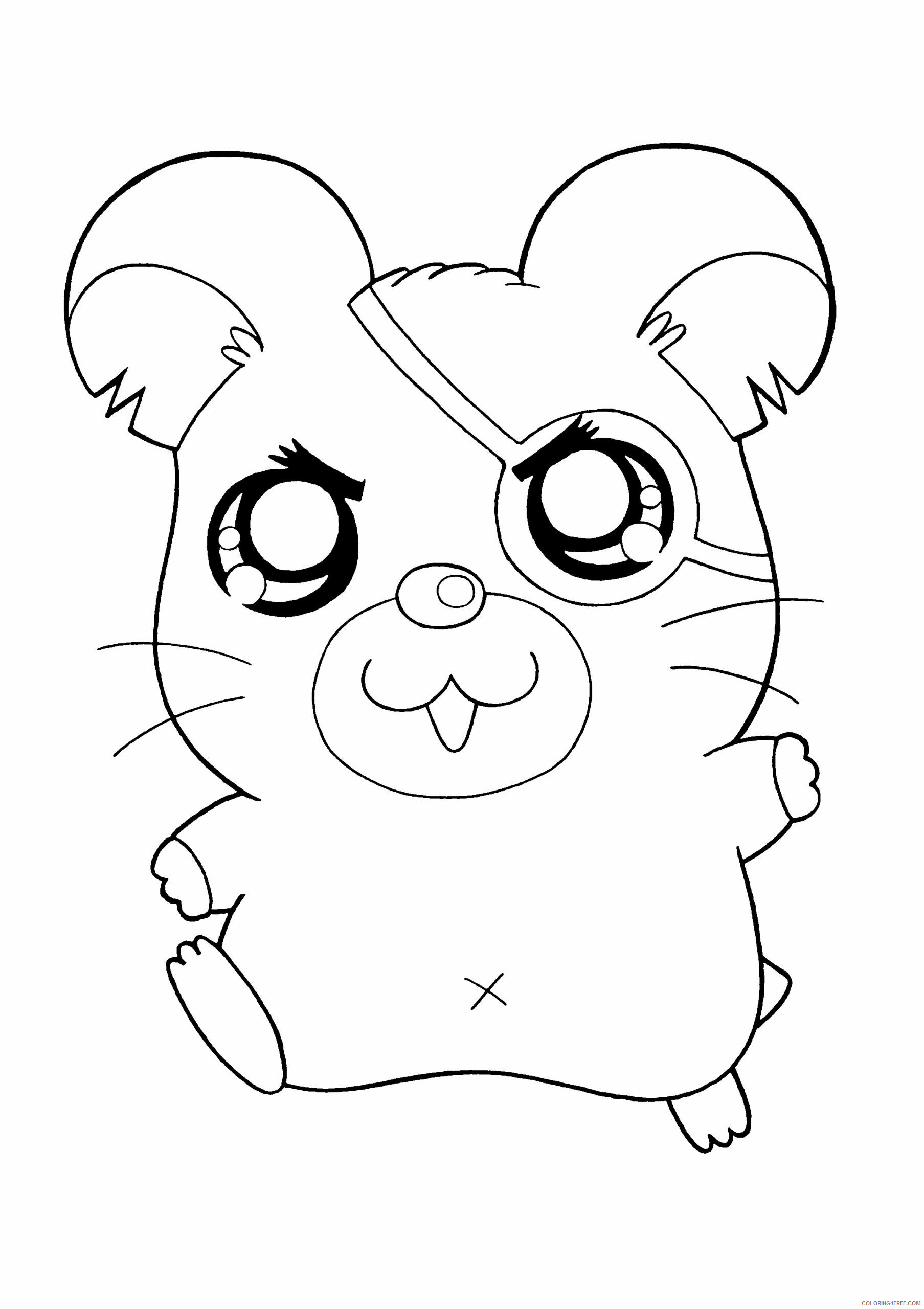 Az Hamtaro Coloring Pages Printable Sheets Hamtaro Pictures High Quality 2021 a 4549 Coloring4free