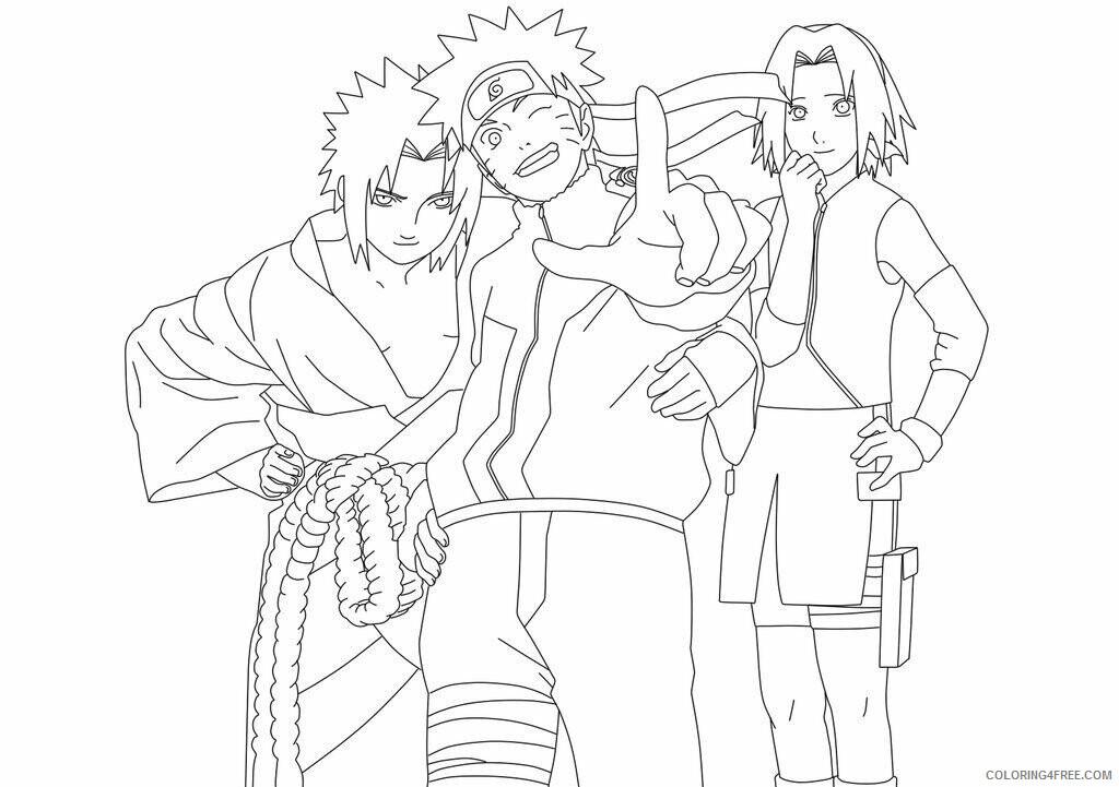 Az Sakura Coloring Pages Printable Sheets Anime Naruto High 2021 a 4554 Coloring4free