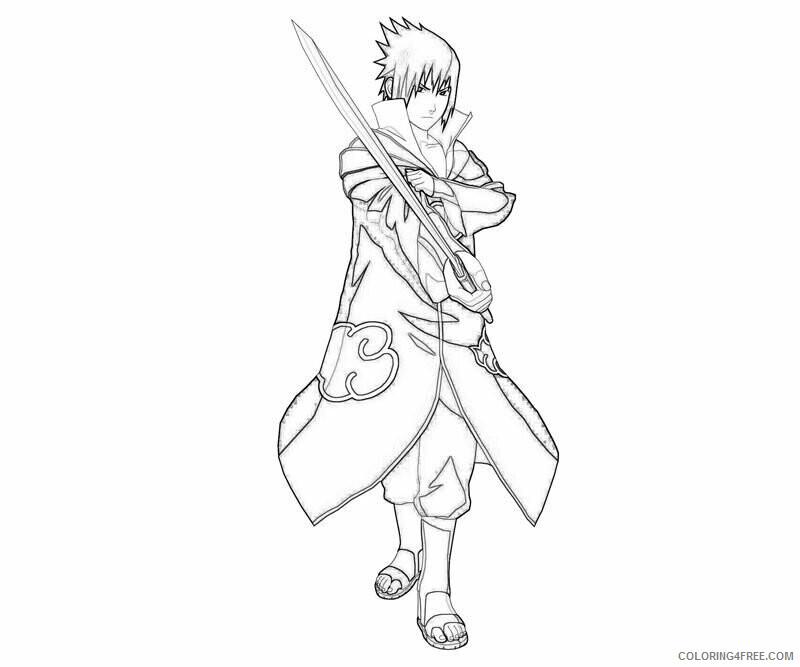 Az Sakura Coloring Pages Printable Sheets Coloriage Naruto Sasuke AZ Coloriage 2021 a Coloring4free