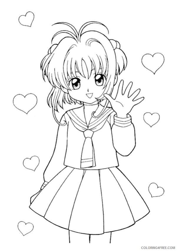 Az Sakura Coloring Pages Printable Sheets Manga Color AZ Colorare jpg 2021 a 4564 Coloring4free