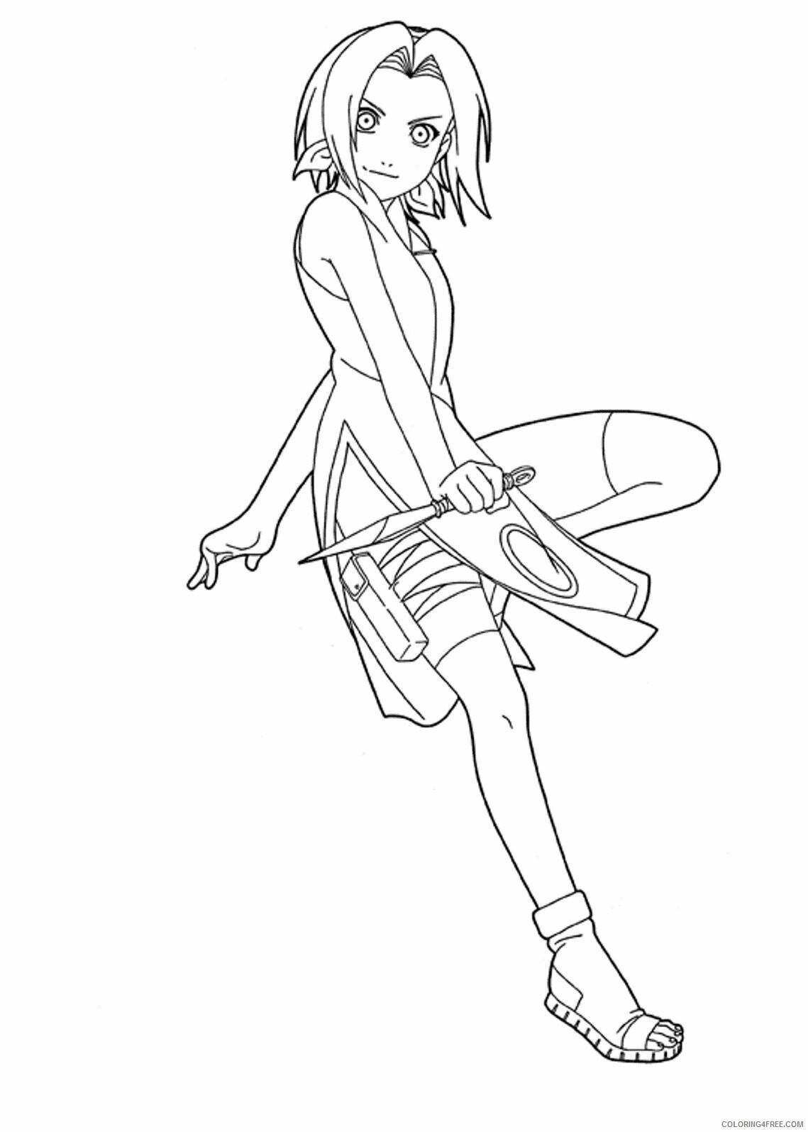 Az Sakura Coloring Pages Printable Sheets Naruto Sakura Haruno 2021 a 4567 Coloring4free