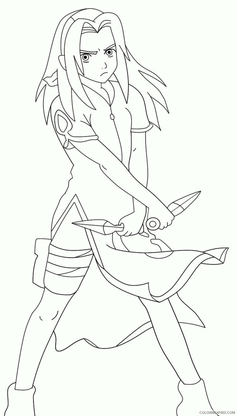 Az Sakura Coloring Pages Printable Sheets Sakura Haruno Page jpg 2021 a 4569 Coloring4free
